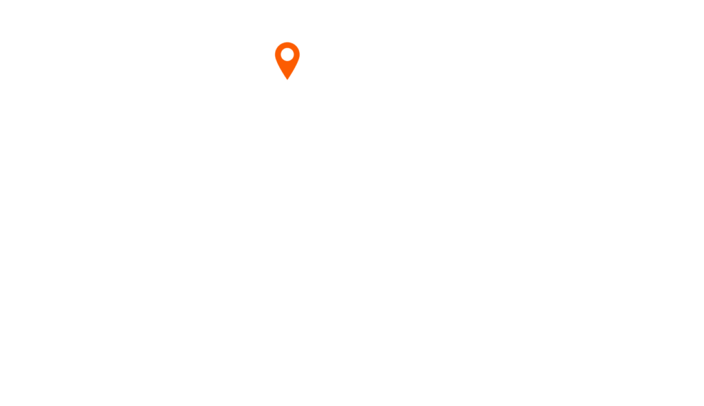 outline of hawaii with a pin on B&T's location