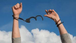 handcuffs being broken off