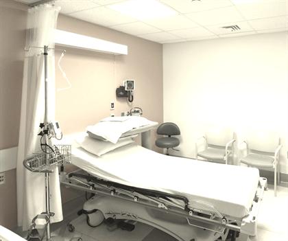 A military quarantine room