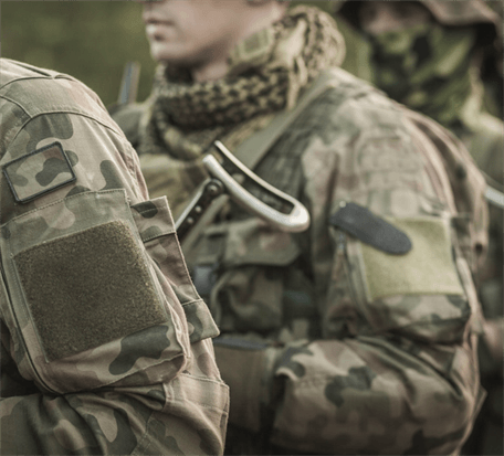 US armed officers in uniform