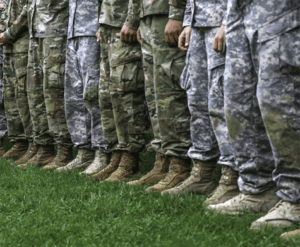 American soldiers in a line