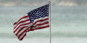 American flag in Hawaii
