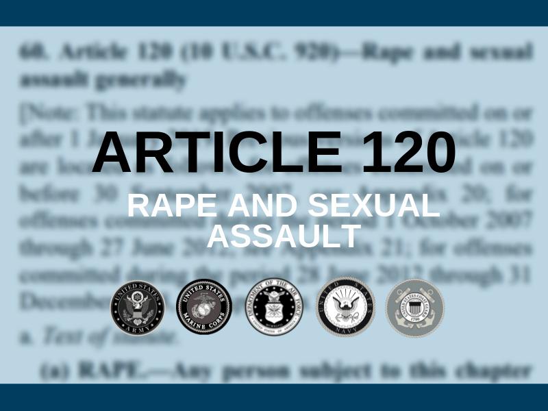 UCMJ article 120 illustration