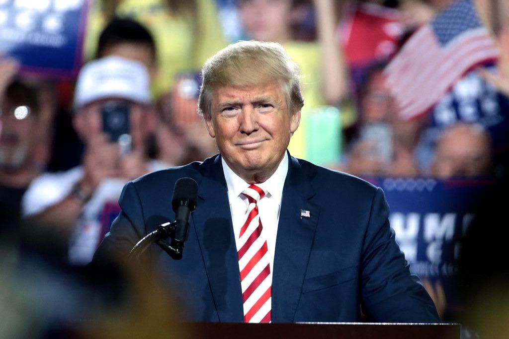 headshot of President Trump