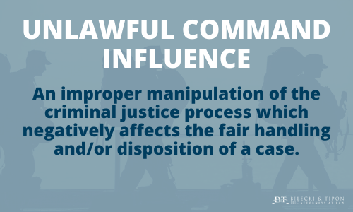 Unlawful command defined in an illustration.