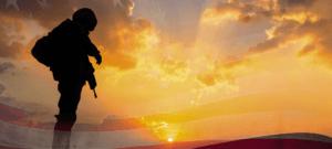 Soldier flag banner