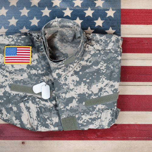 Military property, including uniform and dog tags