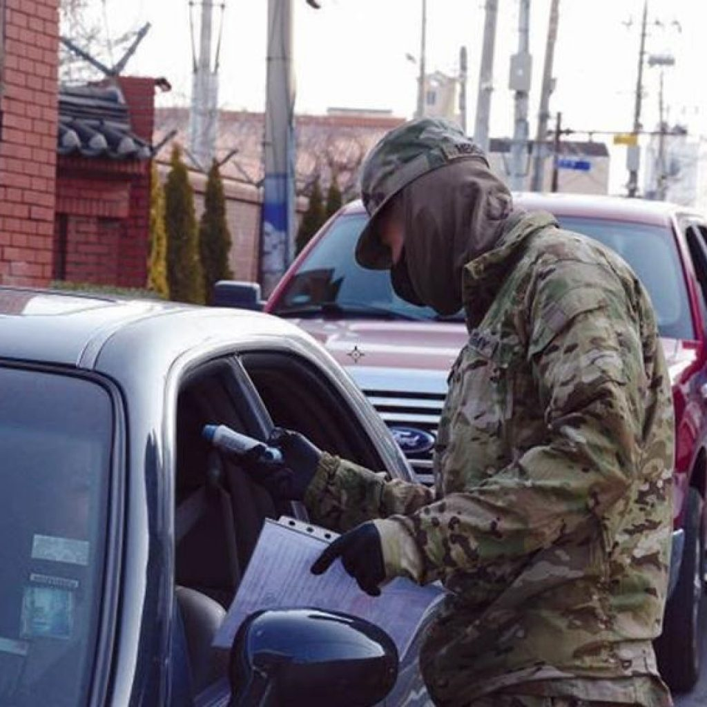 A soldier with the 25th Transportation Battalion c